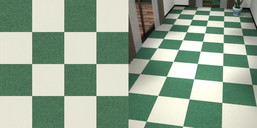 フリーデータ,2D,テクスチャー,texture,JPEG,タイルカーペット,tile,carpet,白色,しろ,ホワイト,white,緑色,グリーン,green,市松貼り,2色市松
