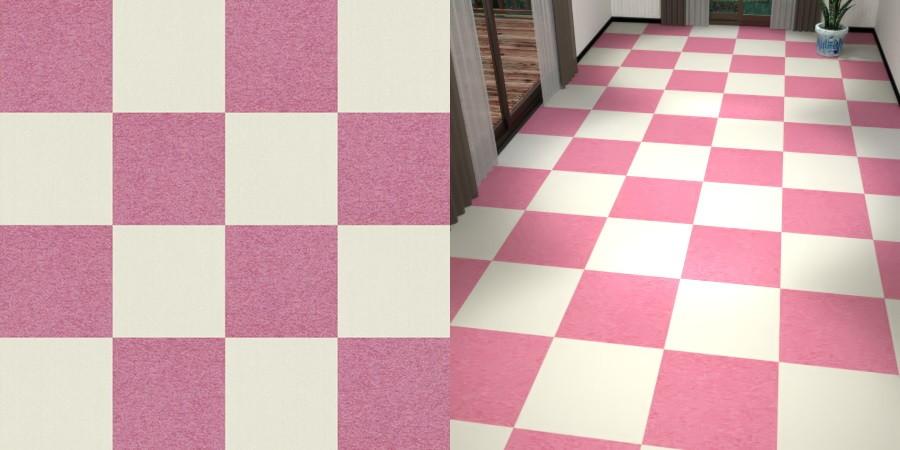 フリーデータ,2D,テクスチャー,texture,JPEG,タイルカーペット,tile,carpet,白色,しろ,ホワイト,white,ピンク色,pink,市松貼り,2色市松