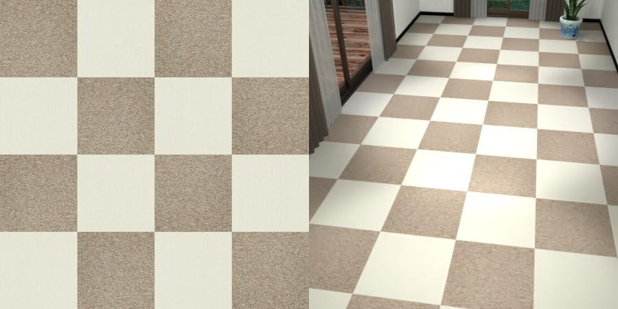 フリーデータ,2D,テクスチャー,texture,JPEG,タイルカーペット,tile,carpet,白色,しろ,white,茶色,ブラウン,brown,灰褐色,grayish brown,市松貼り,2色市松
