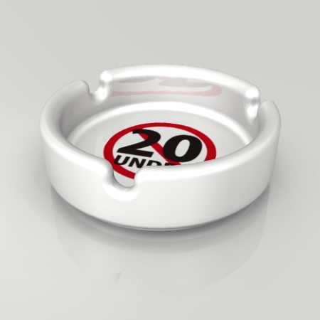 formZ 3D インテリア interior 雑貨 miscellaneous goods 20歳未満禁止のマークがプリントされた灰皿 ashtray