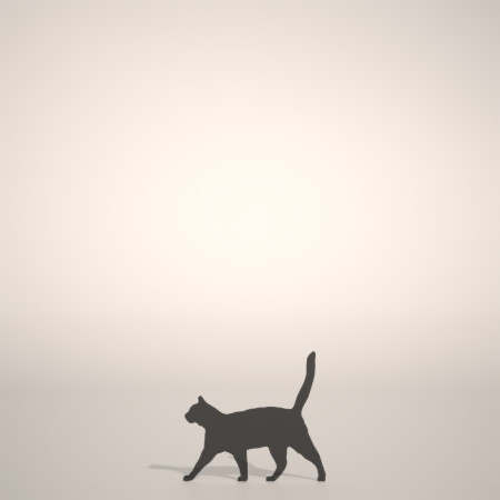 formZ 3D シルエット silhouette 動物 animal 猫 ねこ ネコ cat