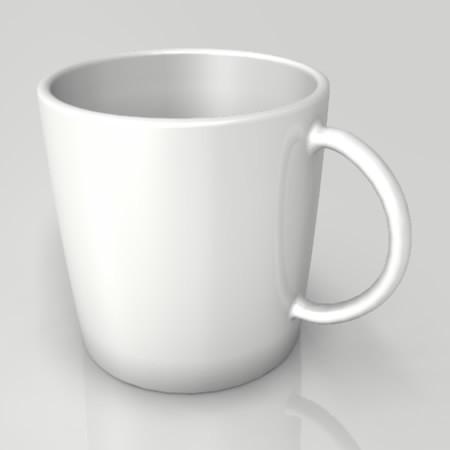 formZ 3D インテリア interior 食器 tableware cup マグカップ mug