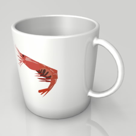 formZ 3D インテリア interior 食器 tableware cup マグカップ mug えび エビ 海老 shrimp