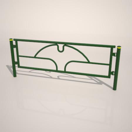 formZ 3D 道路 車両用防護柵 ガードフェンス ガードパイプ road guard pipe fence いちょう イチョウ 銀杏 都道 東京 東京都 tokyo