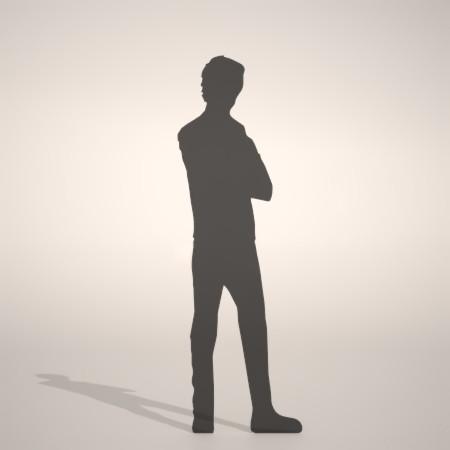 formZ 3D silhouette man 腕を組んで立つ男性のシルエット 腕組み
