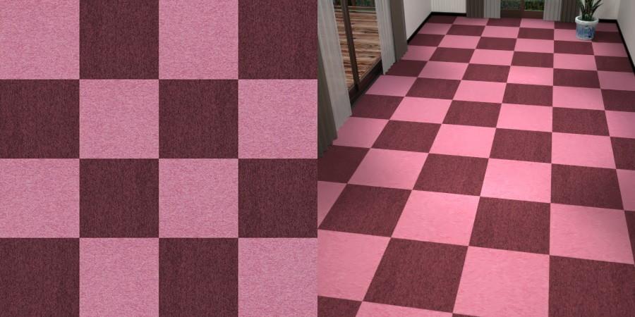 フリーデータ,2D,テクスチャー,texture,JPEG,タイルカーペット,tile,carpet,紫色,パープル,purple,ワインレッド,あずき色,ピンク,桃色,pink,市松貼り,2色市松