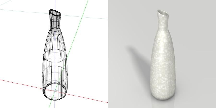 formZ 3D インテリア interior 雑貨 miscellaneous goods 花瓶 フラワーベース flower vase