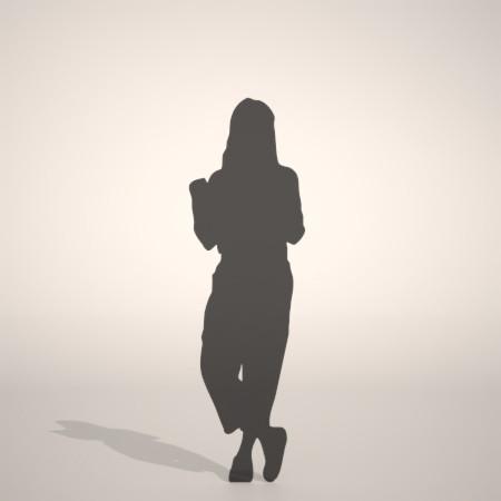 formZ 3D シルエット silhouette 女性 woman female lady ワイドパンツ