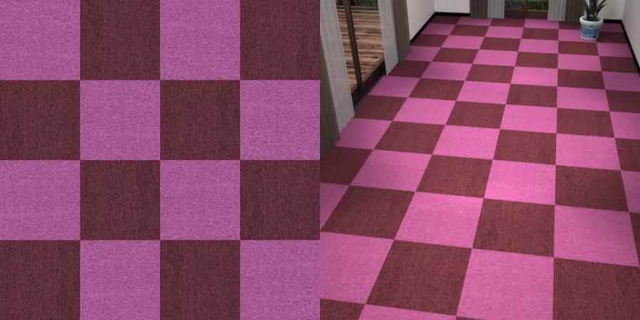 フリーデータ,2D,テクスチャー,texture,JPEG,タイルカーペット,tile,carpet,紫色,パープル,purple,ワインレッド,あずき色,市松張り,2色市松