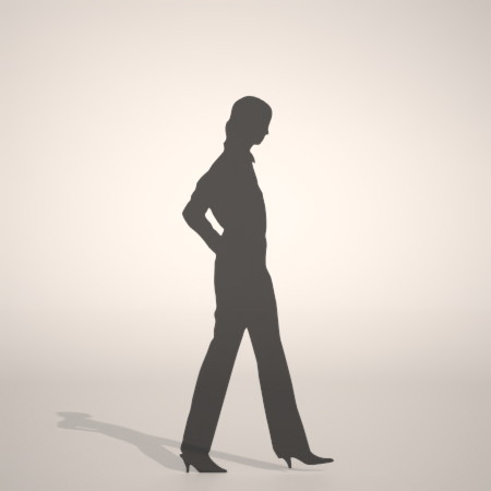 formZ 3D silhouette woman female lady パンプス pumps ストレートパンツを穿いた女性のシルエット