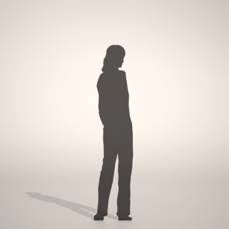formZ 3D silhouette woman female lady ストレートパンツを穿いた女性のシルエット