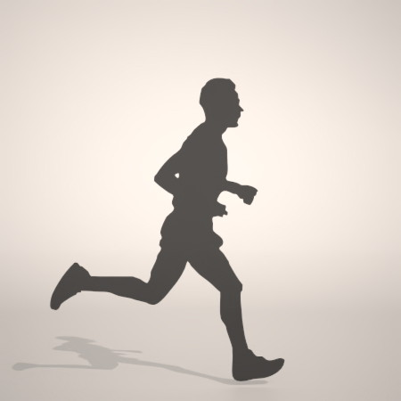 フリー素材 formZ 3D silhouette man 走る running ジョギング Jogging ジョガー Jogger 男性 マラソンランナーのシルエット