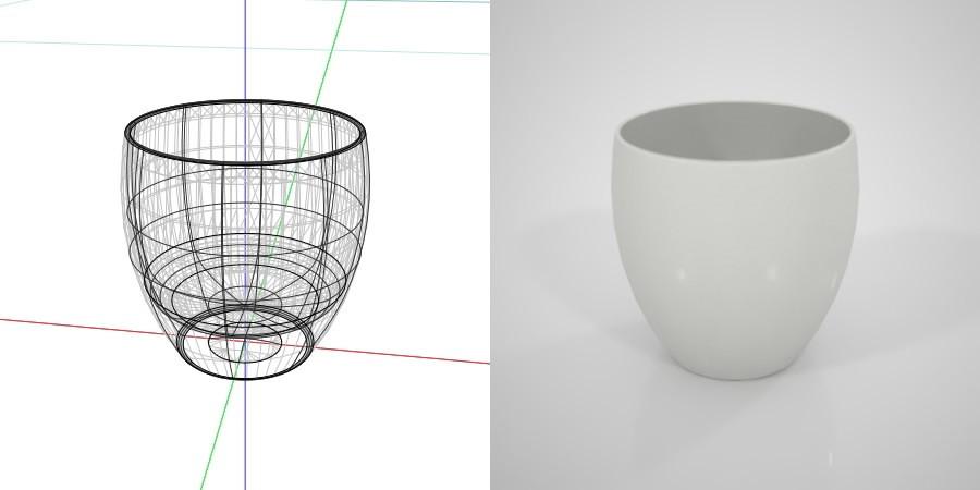 無料 商用可能 フリー素材 formZ 3D インテリア interior 食器 tableware sake cup 白いお猪口
