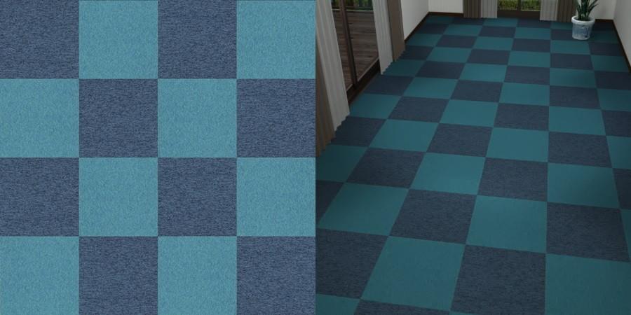 無料,商用可能,フリーデータ,2D,テクスチャー,texture,JPEG,タイルカーペット,tile,carpet,青,ブルー,blue,市松張り,2色市松
