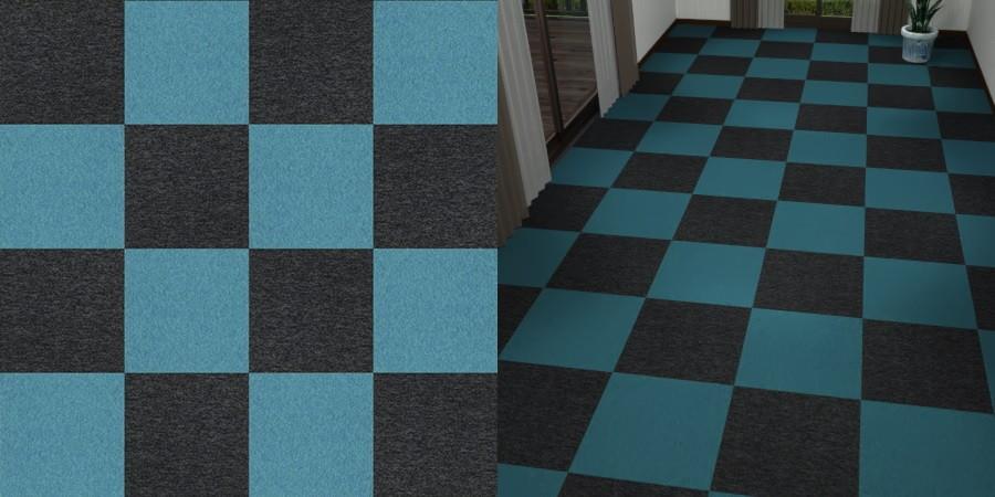 無料,商用可能,フリーデータ,2D,テクスチャー,texture,JPEG,タイルカーペット,tile,carpet,青,ブルー,blue,黒,ブラック,black,市松張り,2色市松