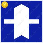 有料版【交通標識】優先道路の 指示標識【イラスト】 ts_405