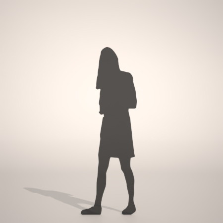 無料,商用可能,フリー素材,formZ,3D,silhouette,woman,female,lady,skirt,スカートを穿いた女性のシルエット