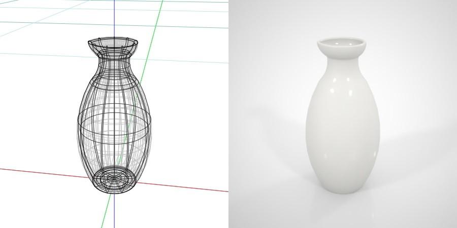 無料 商用可能 フリー素材 formZ 3D インテリア interior 食器 tableware sake pitcher とっくり 白い2合の徳利