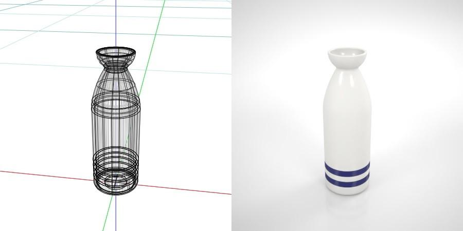 ラインの入った 2合の徳利,無料,商用可能,フリー素材,formZ,3D,インテリア,interior,食器,酒器,tableware,sake pitcher,とっくり