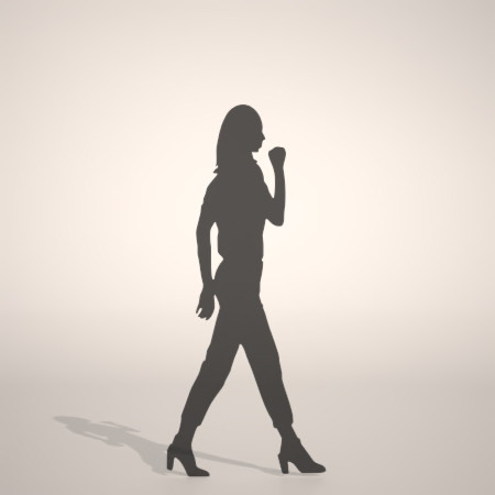 無料,商用可能,フリー素材,formZ,3D,silhouette,woman,female,lady,ガッツポーズをする女性のシルエット,パンプス,pumps,クロップドパンツ,pants
