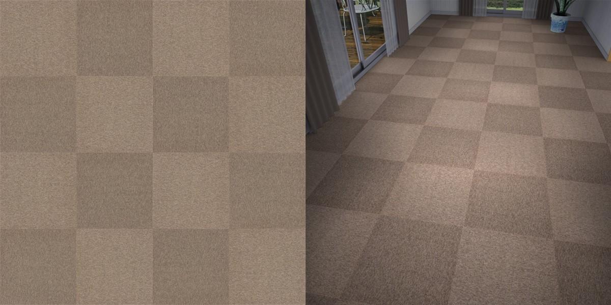 タイルカーペットのシームレステクスチャー丨床材 市松張り丨無料 商用可能 フリー素材 フリーデータ丨サンゲツ NT748