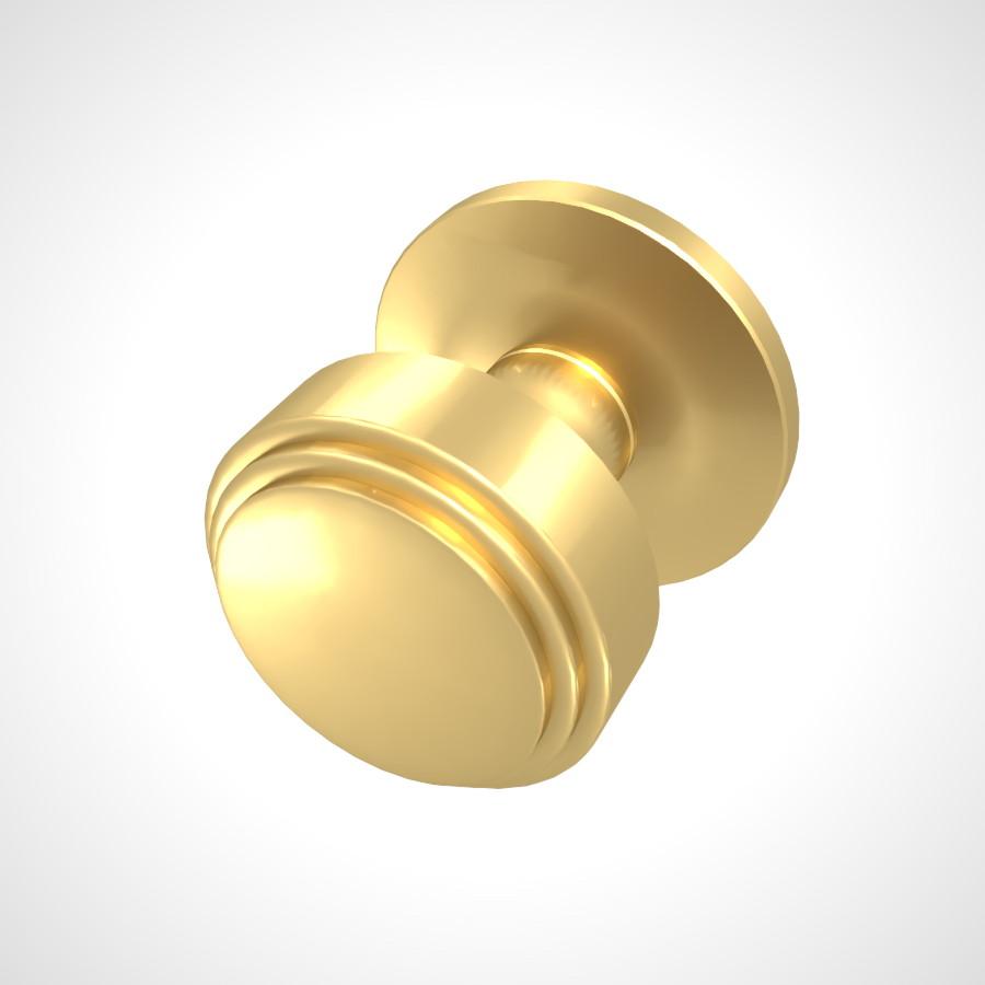 ゴールドのドアノブの3DCADデータ丨建築 建具金物 ドアノブ丨無料 商用可能 フリー素材 フリーデータ丨データ形式はformZ ・3ds・objファイルです