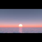 【CG】海面からの日の出【背景画像】 ocean_0001