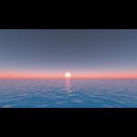 【CG】海面からの日の出【背景画像】 ocean_0002