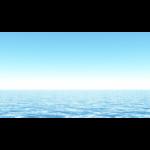 【CG】雲一つない青空と海【背景画像】 ocean_0003