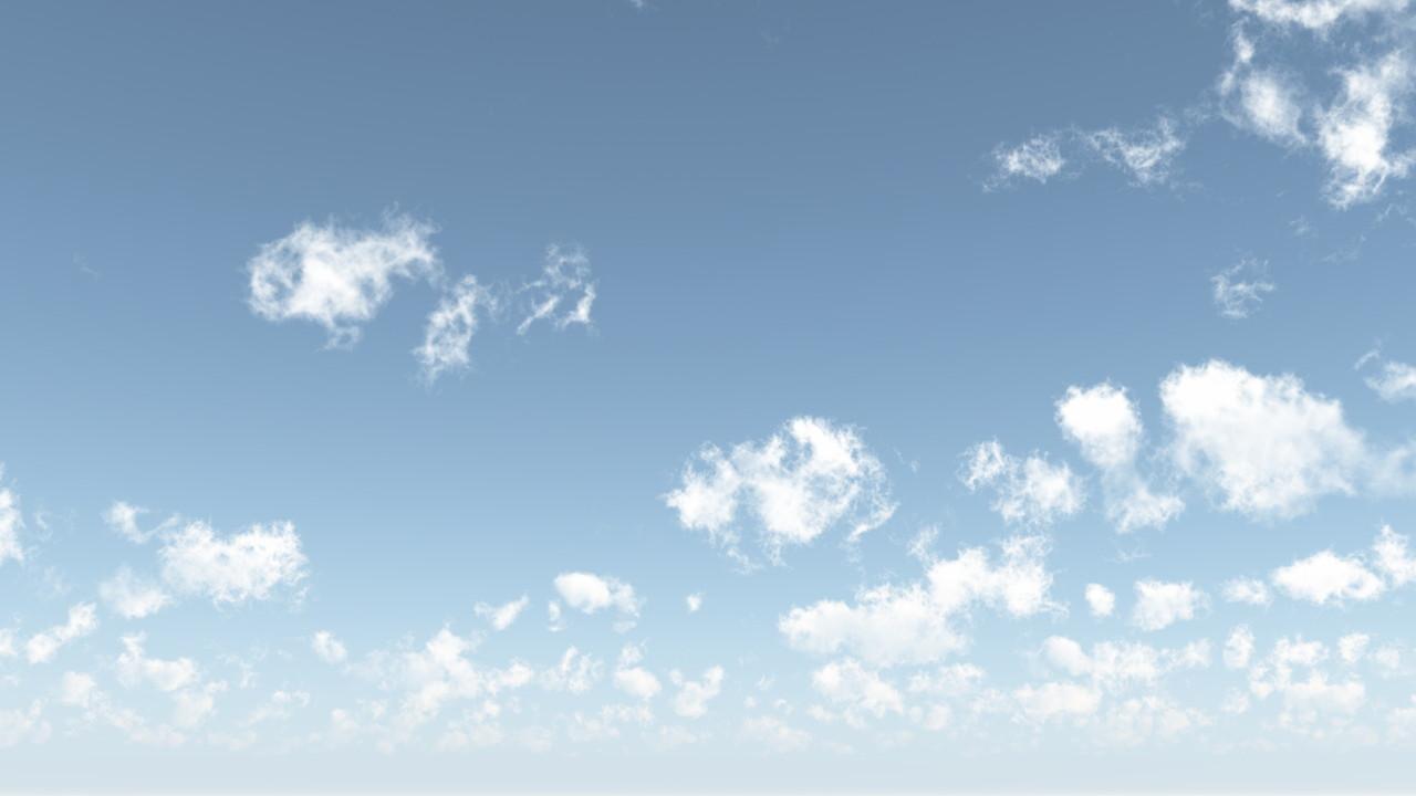 雲の浮かぶ空丨CG 背景画像 空丨無料 商用可能 フリー素材 フリーデータ丨データ形式はjpegです
