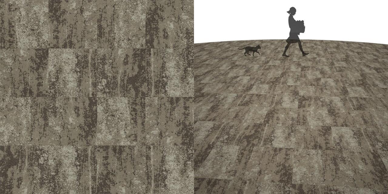 タイルカーペットのシームレステクスチャー丨床材 流し張り丨無料 商用可能 フリー素材 フリーデータ丨サンゲツ DT3202
