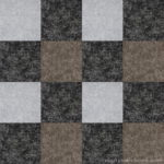 【タイルカーペット】黒・灰・茶 3色のチェック柄(市松張り)【テクスチャー】 tc_0521
