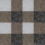 【タイルカーペット】茶・灰・黒 3色のチェック柄(市松張り)【テクスチャー】 tc_0522