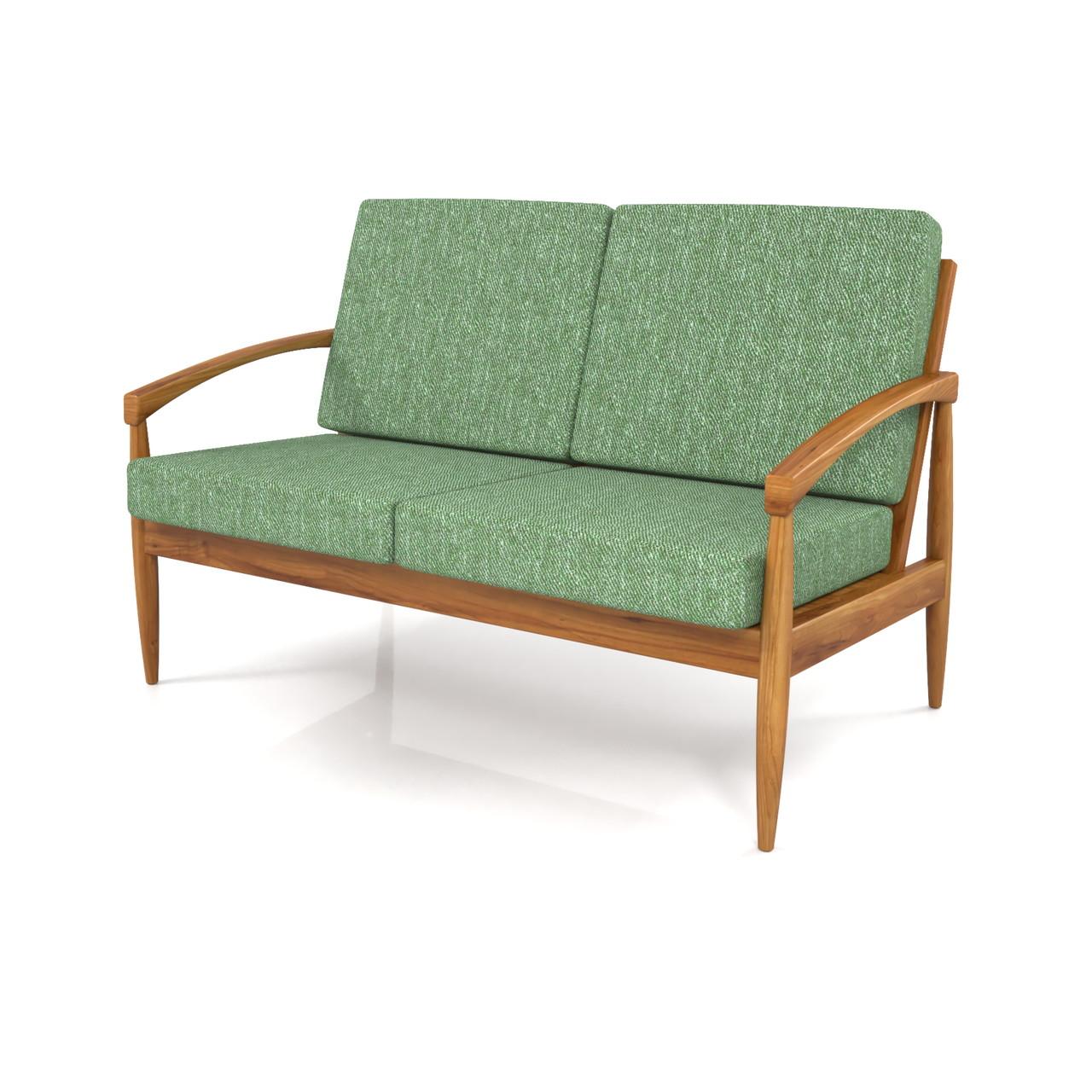 2人掛けのソファ(緑色)の3DCADデータ丨インテリア 家具 ソファー丨無料 商用可能 フリー素材 フリーデータ丨データ形式はformZ ・3ds・objファイルです丨digital-architex.com