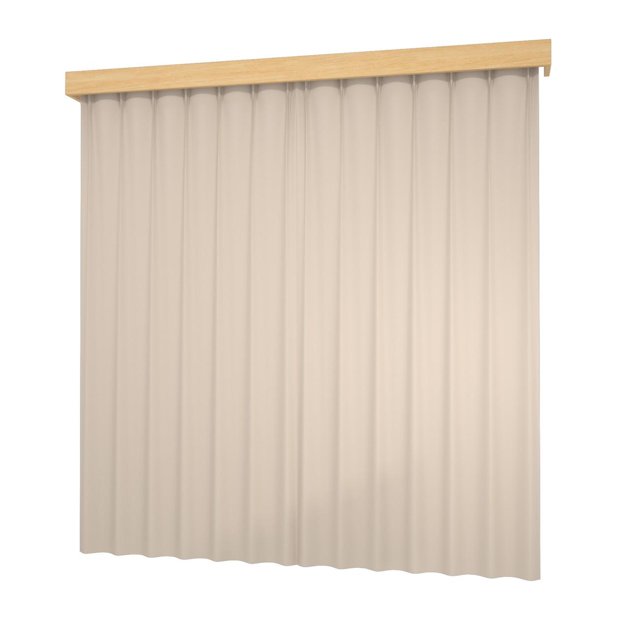 閉じたカーテンとレースカーテン・カーテンボックス(ベージュ)の3DCADデータ│遮光カーテン レースのカーテン│3d cad データ フリー 無料 商用可能 建築パース フリー素材 formZ 3D 3ds obj インテリア interior curtain