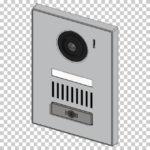 【CG】カメラ付きインターホン 埋込み型 カトゥーン調 【イラスト】 ill-ext_0005