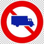 【交通標識】大型貨物自動車等通行止めの 規制標識【イラスト】 ill-tsi_305