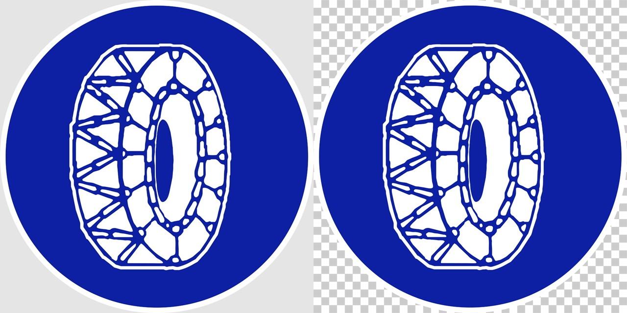 タイヤチェーンを取り付けていない車両通行止めの 規制標識│ マーク 道路標識 切り抜き画像 イラスト フリー データ ダウンロード無料 商用可能 フリー素材 ダウンロード Free download 2D illustration JPEG png traffic signs│digital-architex.com