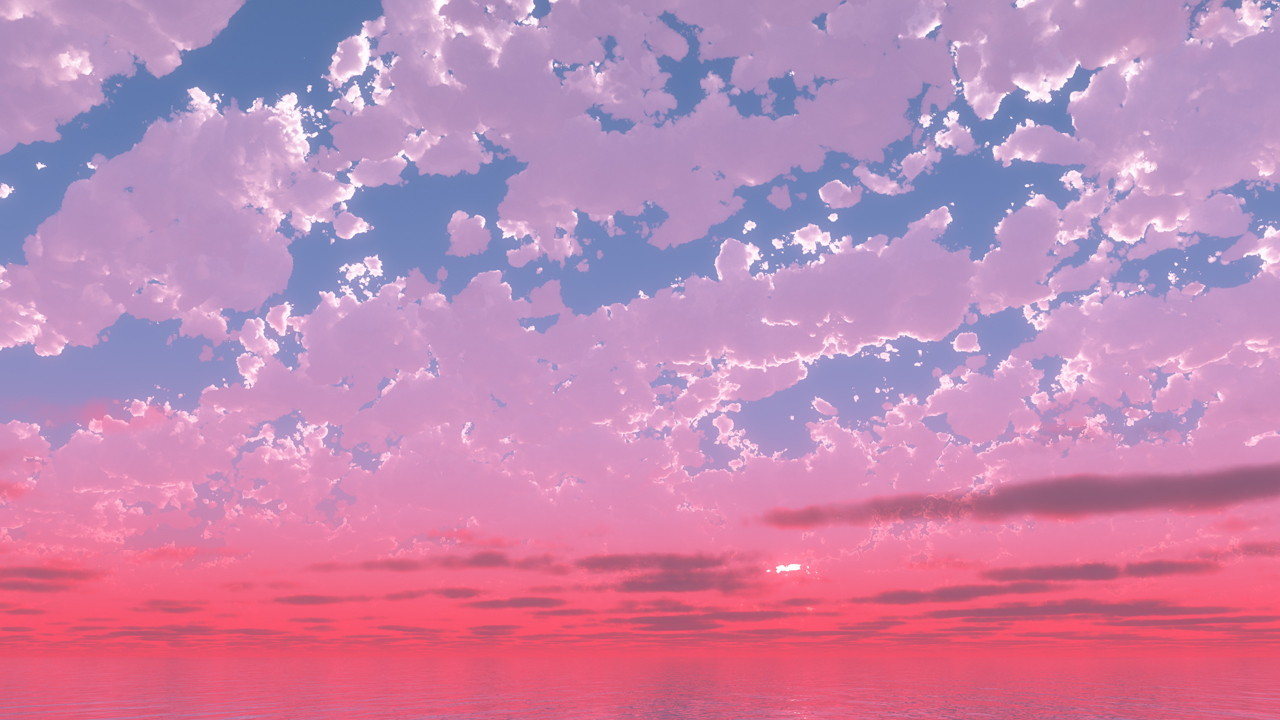 ピンク色に焼けた空│紫色 夕焼け 夕陽 4k│CG画像データ フリー ダウンロード 無料 商用可能 2d background image  Free download digital-architex.com