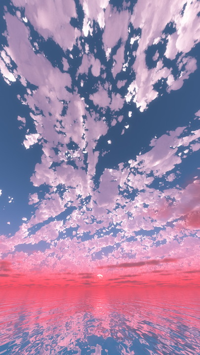 ピンク色に焼けた空│紫色 夕焼け 夕陽 FHD 縦画像│CG画像データ フリー ダウンロード 無料 商用可能 2d background image  Free download digital-architex.com