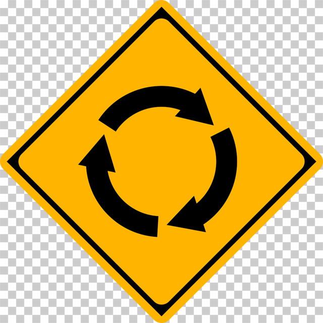 ロータリーありの 警戒標識│マーク 日本の道路標識 切り抜き画像 イラスト フリー データ ダウンロード無料 商用可能 フリー素材 ダウンロード Free download 2D illustration JPEG png traffic sign│digital-architex.com