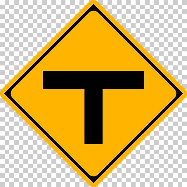 T形道路交差点ありの 警戒標識│T字 マーク 日本の道路標識 切り抜き画像 イラスト フリー データ ダウンロード無料 商用可能 フリー素材 ダウンロード Free download 2D illustration JPEG png traffic sign│digital-architex.com