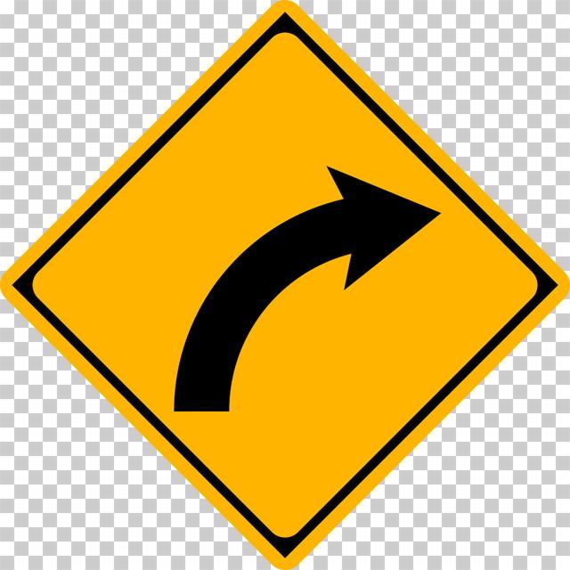 右方屈曲ありの 警戒標識│マーク 日本の道路標識 切り抜き画像 イラスト フリー データ ダウンロード無料 商用可能 フリー素材 ダウンロード Free download 2D illustration JPEG png traffic sign│digital-architex.com