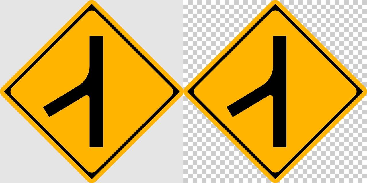 合流交通ありの 警戒標識│ マーク 日本の道路標識 切り抜き画像 イラスト フリー データ ダウンロード無料 商用可能 フリー素材 ダウンロード Free download 2D illustration JPEG png traffic sign│digital-architex.com