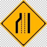 【交通標識】車線数減少の 警戒標識【イラスト】ill-tsi_211