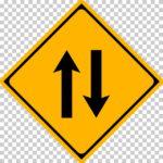 【交通標識】二方向交通の 警戒標識【イラスト】ill-tsi_212-2