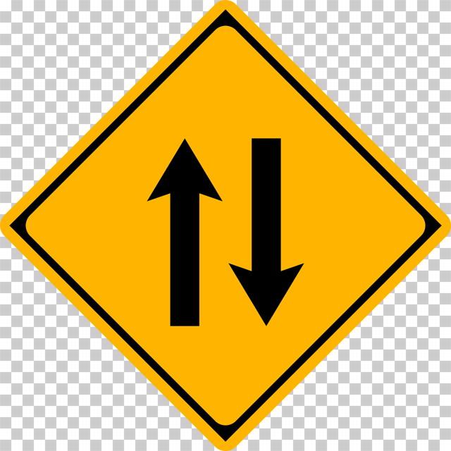 二方向交通の 警戒標識│ マーク 日本の道路標識 切り抜き画像 イラスト フリー データ ダウンロード無料 商用可能 フリー素材 ダウンロード Free download 2D illustration JPEG png traffic sign│digital-architex.com