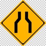 【交通標識】幅員減少の 警戒標識【イラスト】ill-tsi_212