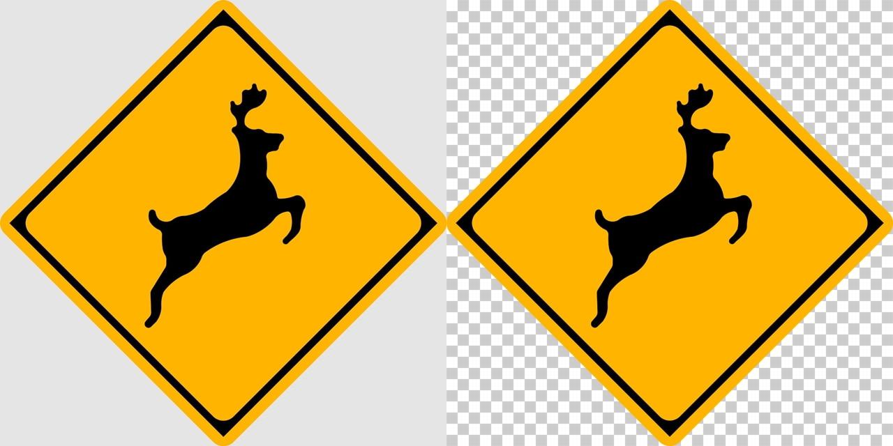 動物の飛び出すおそれありの 警戒標識│しか 鹿 シカ マーク 日本の道路標識 切り抜き画像 イラスト フリー データ ダウンロード無料 商用可能 フリー素材 ダウンロード Free download 2D illustration JPEG png traffic sign│digital-architex.com