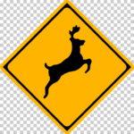 【交通標識】動物の飛び出すおそれありの 警戒標識【イラスト】ill-tsi_214-2